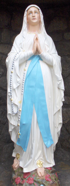 Statue of Our Lady of Lourdes from the Grotto at Ballinteer Parish Church